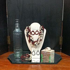 Twist Bead handmade Tagua Nut Necklace